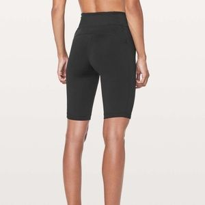 lululemon athletica Shorts - Lululemon On Pace Short Biker Shorts Black